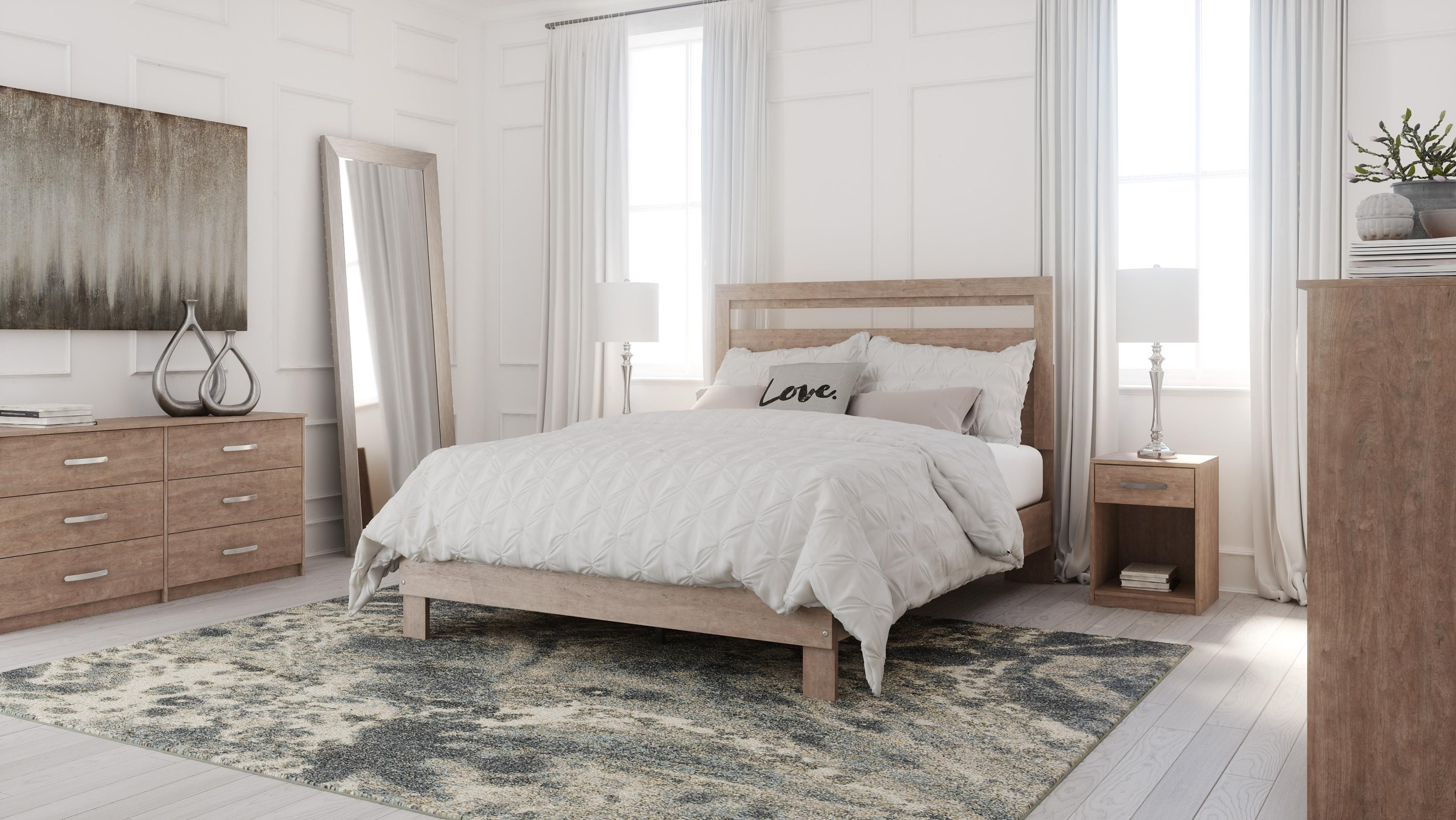 Flannia 3 Piece Full Bedroom Set by Signature Design by Ashley at Sam Levitz Furniture