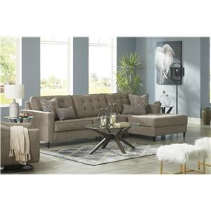 Auburn 2 Piece Sectional Left Arm Facing Sofa and Swivel Glider Chair Set