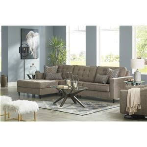 Auburn 2 Piece Sectional Right Arm Facing Sofa and Swivel Glider Chair Set