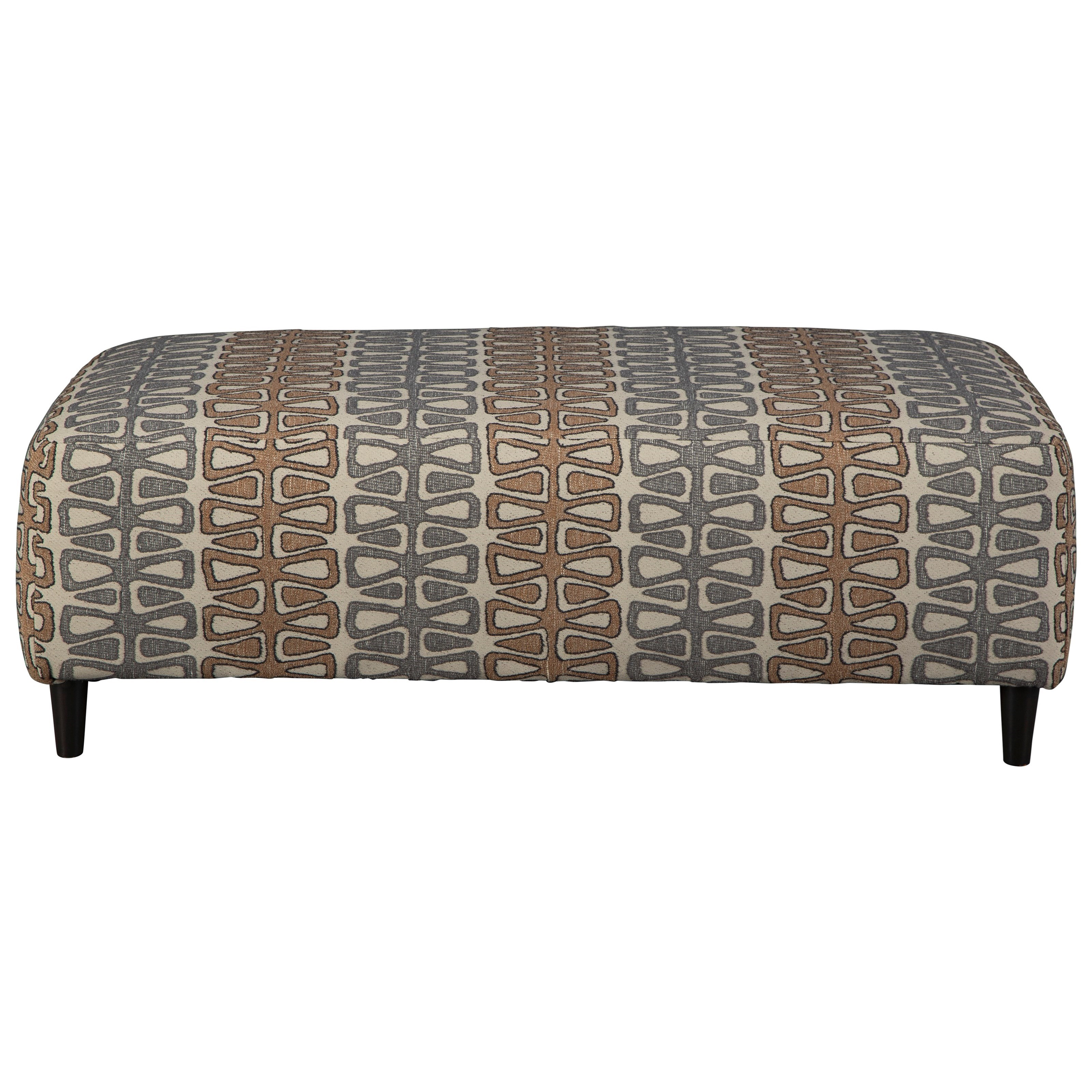 Flintshire Oversized Accent Ottoman by Signature Design by Ashley at Beck's Furniture