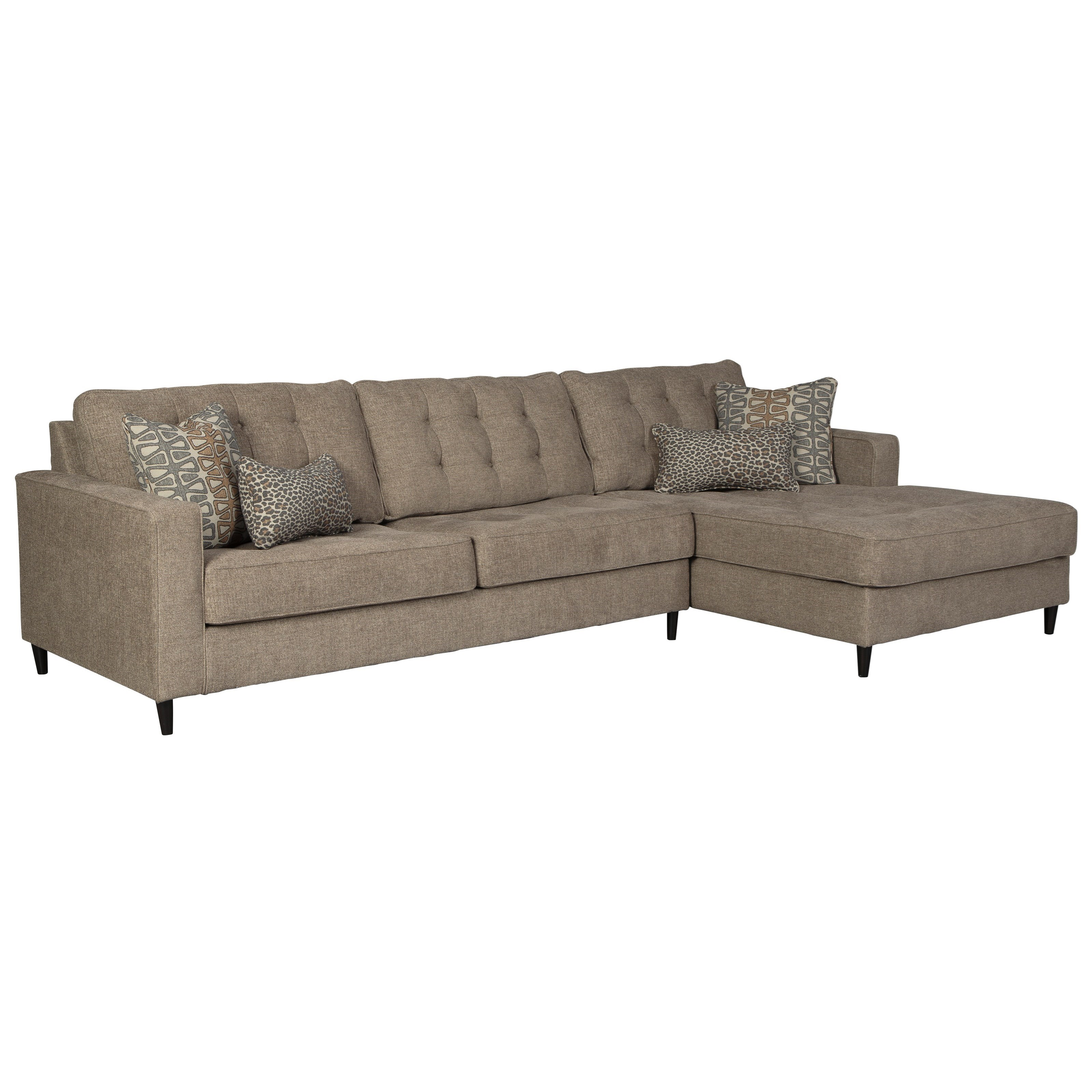 Flintshire 3 Seat Sectional Sofa w/ RAF Chaise by Signature Design by Ashley at Beck's Furniture