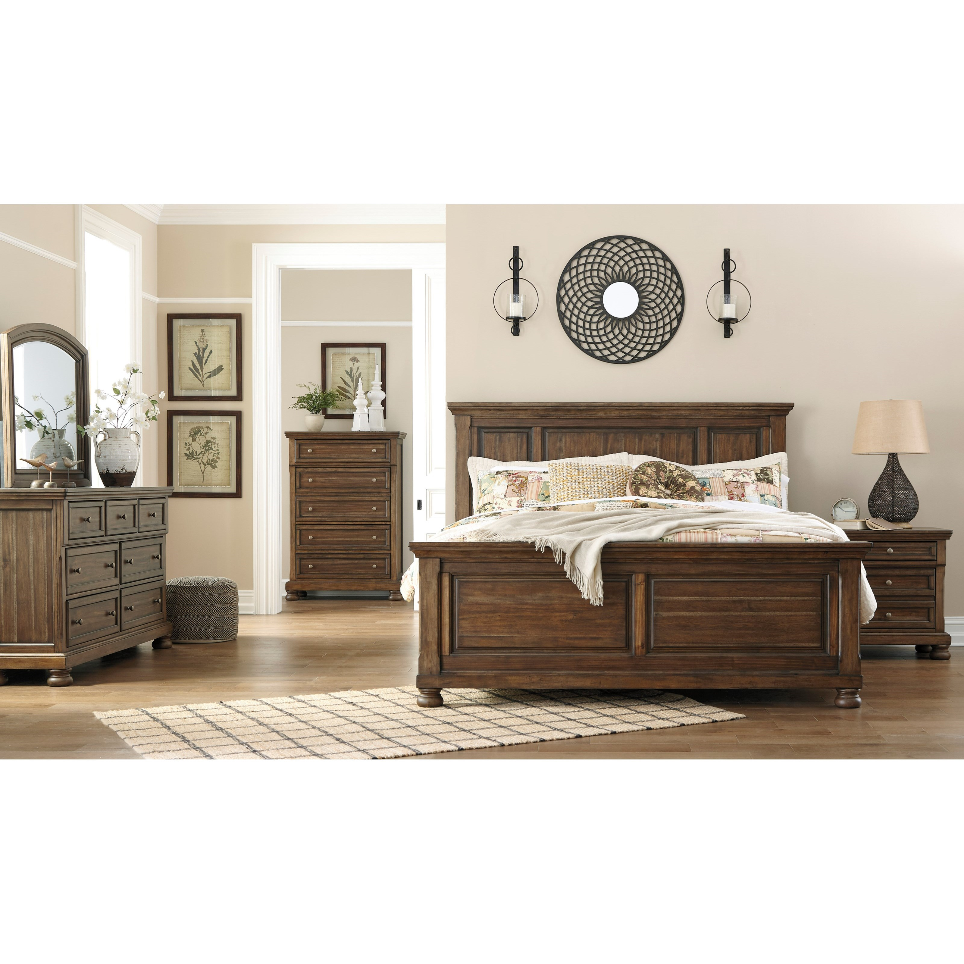 Flynnter King Bedroom Group by Signature Design by Ashley at Beds N Stuff