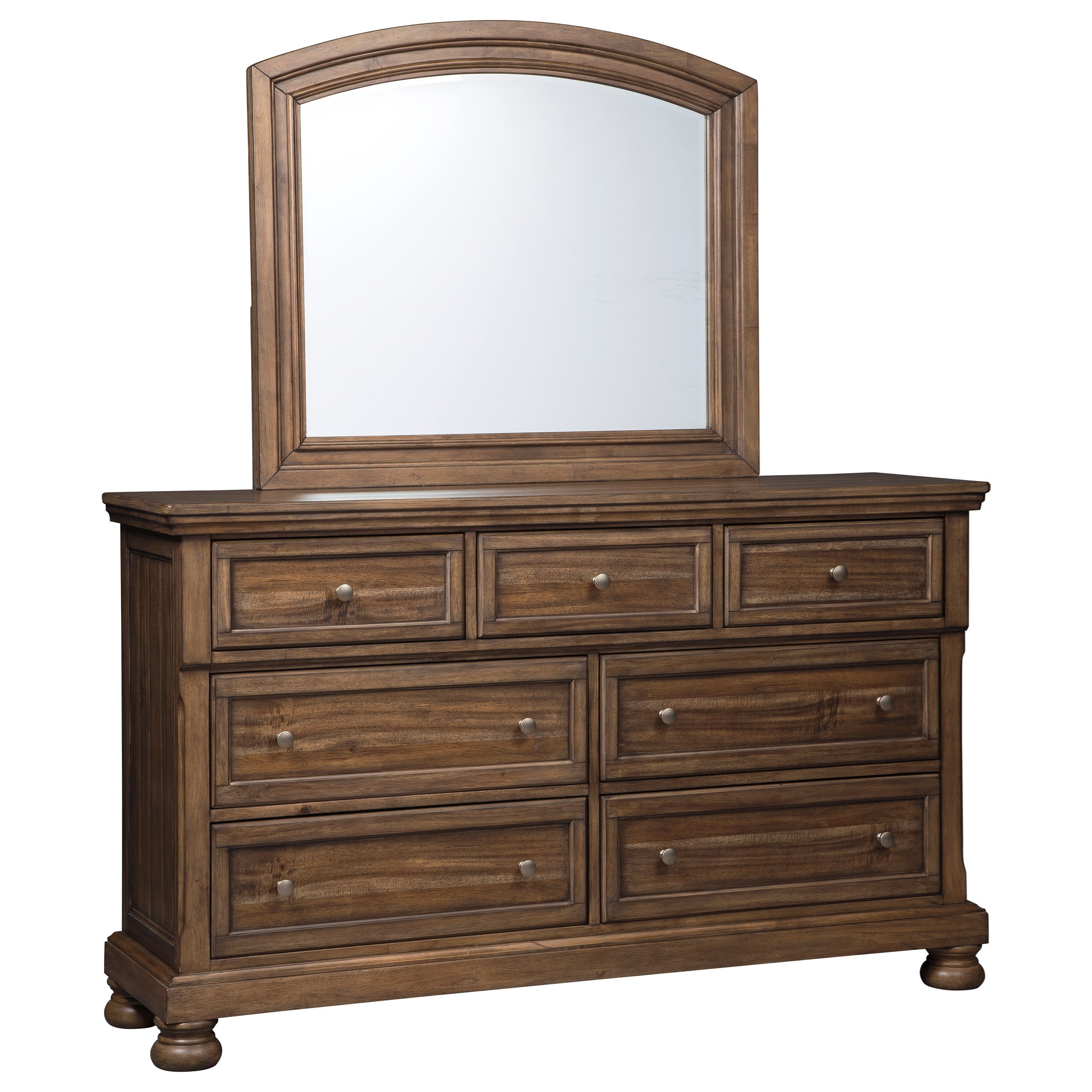 Flynnter Dresser & Bedroom Mirror by Signature Design by Ashley at Lindy's Furniture Company