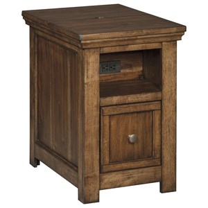 1 Drawer Chair Side End Table
