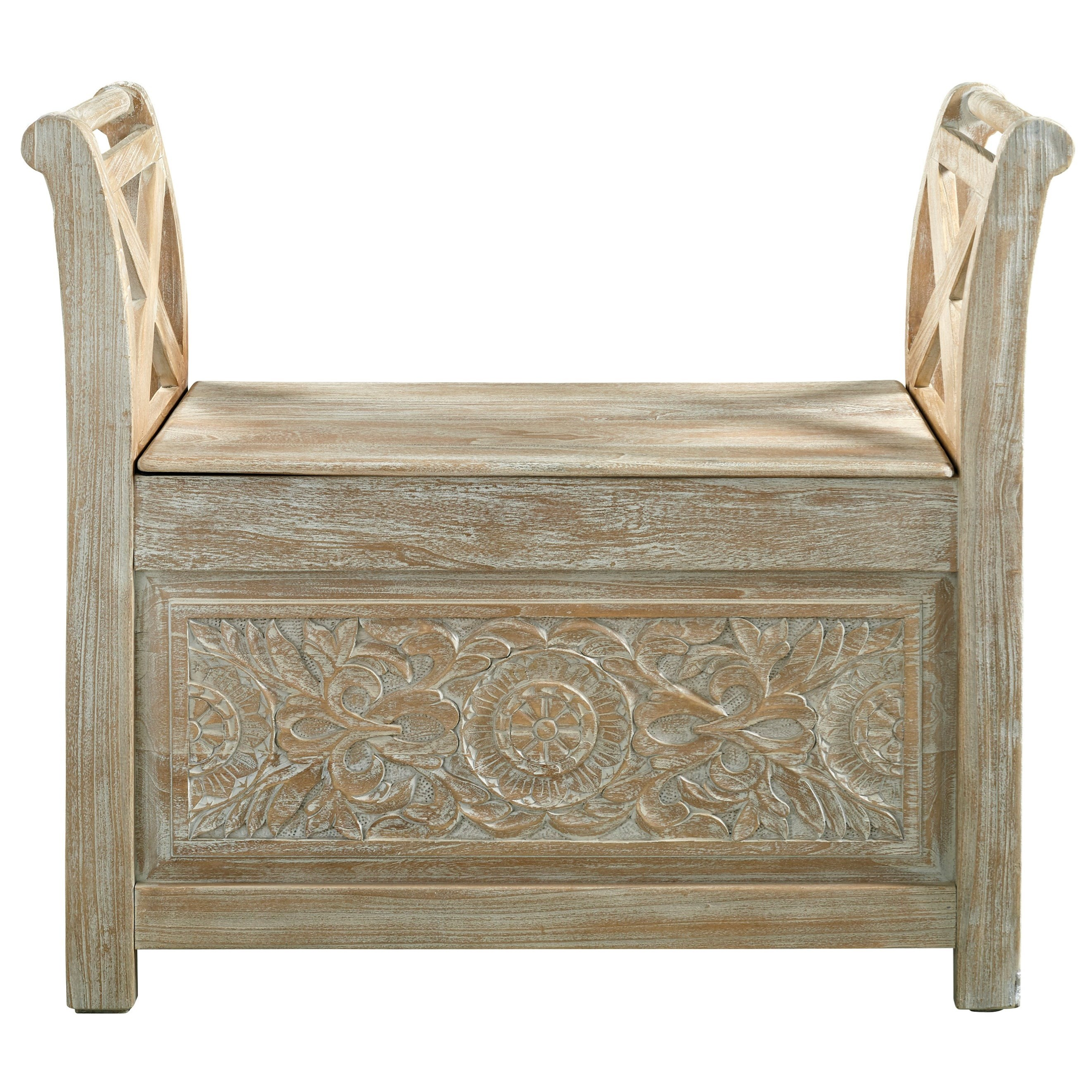 Fossil Ridge Storage Accent Bench by Signature Design by Ashley at HomeWorld Furniture