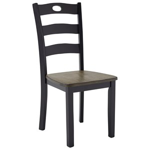 Two-Tone Finish Dining Room Side Chair