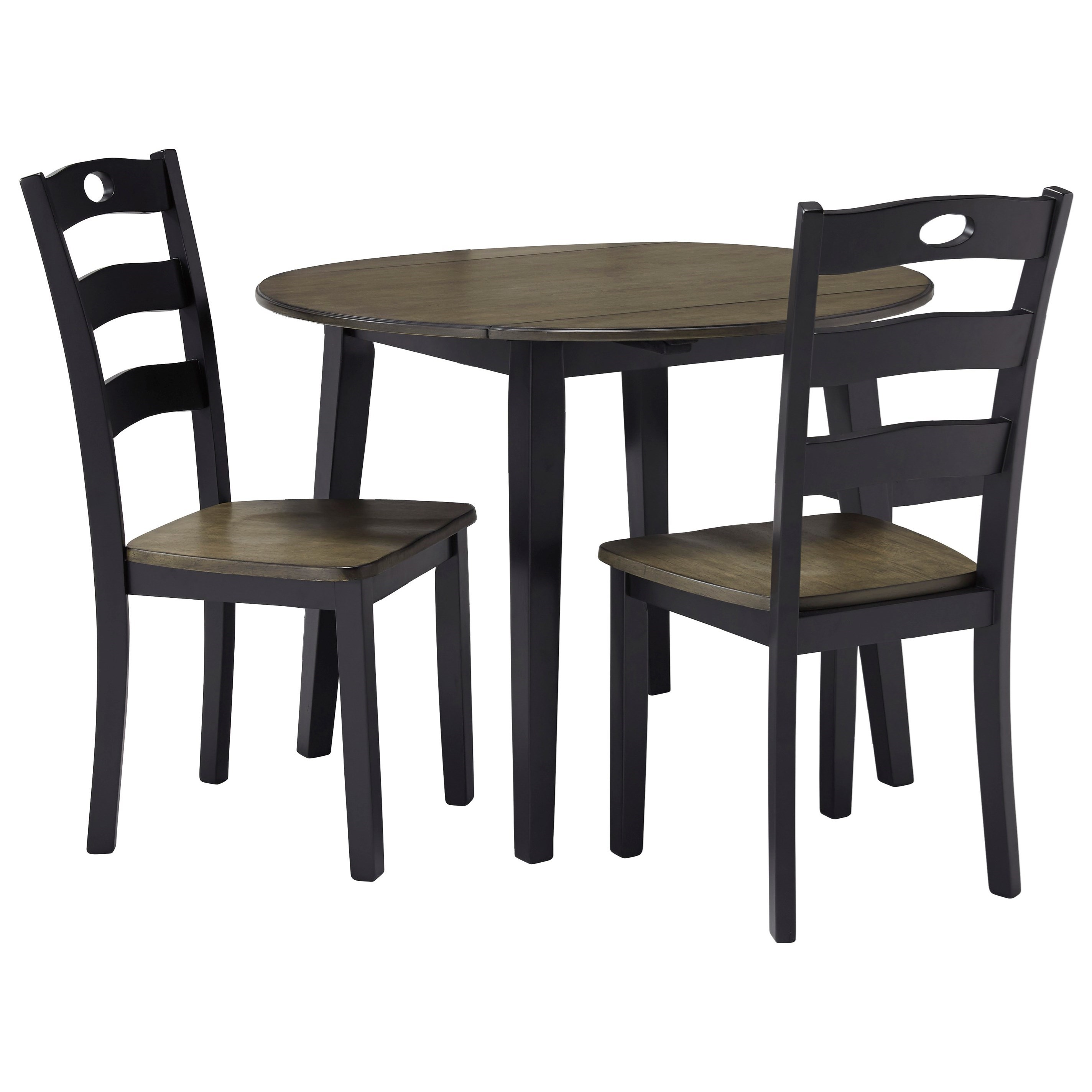 Froshburg 3-Piece Round Drop Leaf Table Set by Signature Design by Ashley at Catalog Outlet