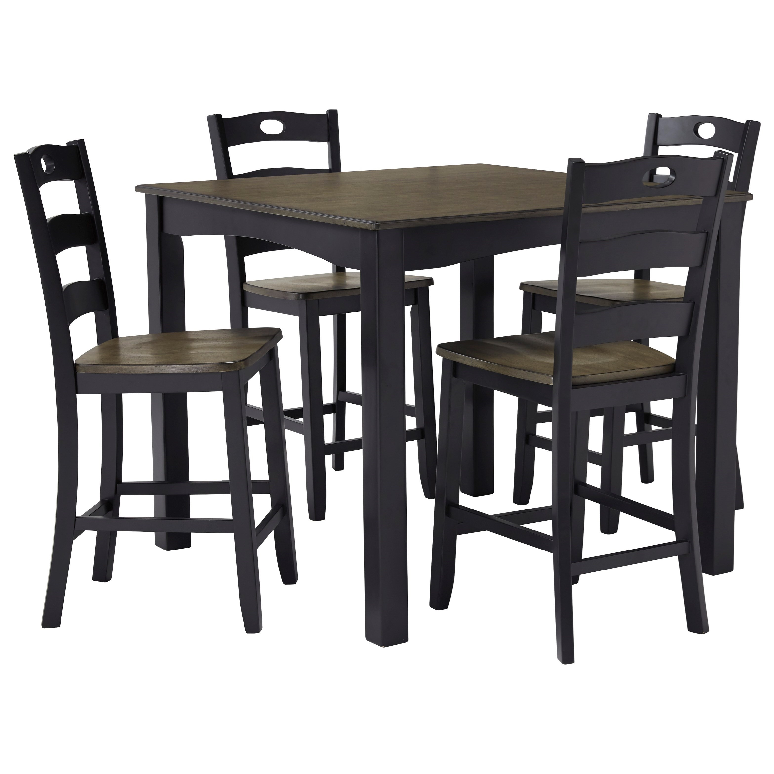 Froshburg 5-Piece Square Counter Table Set by Ashley (Signature Design) at Johnny Janosik
