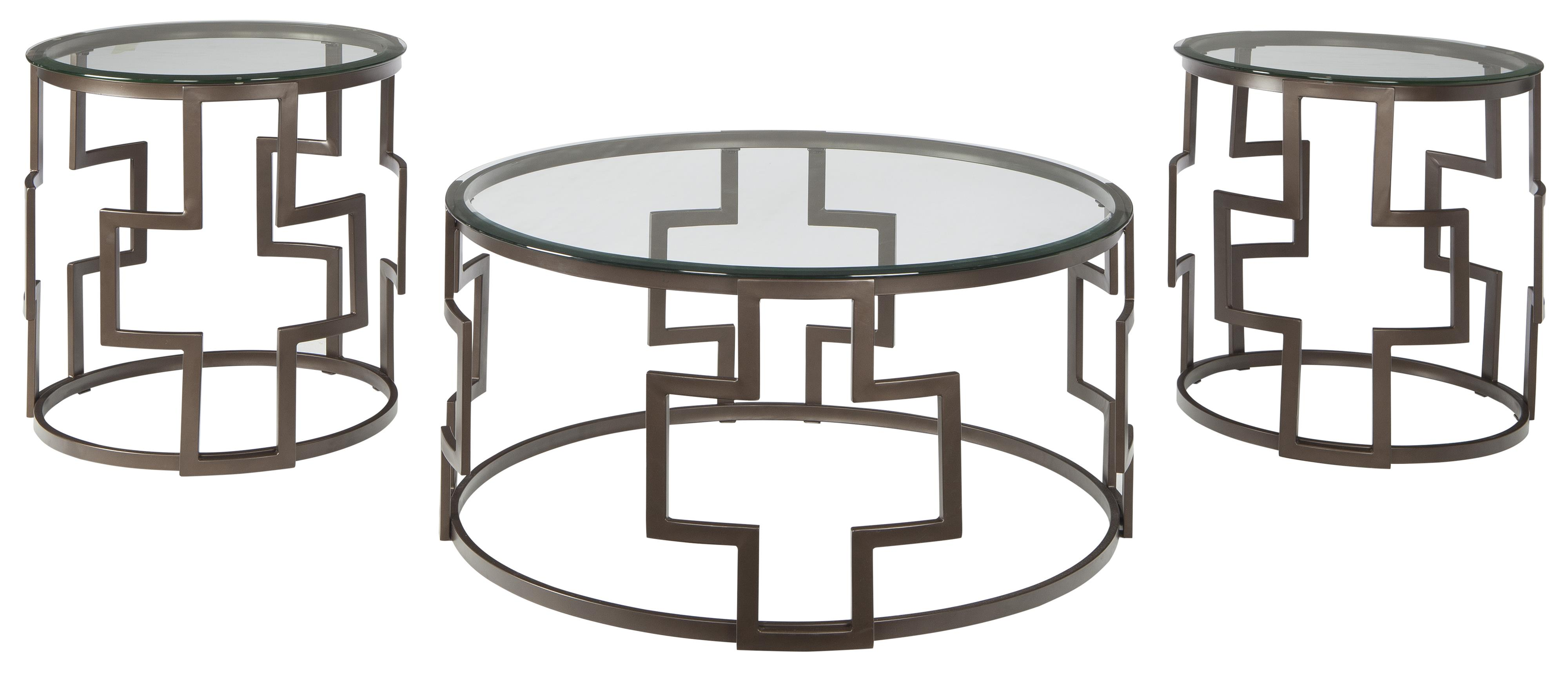 Frostine Occasional Table Set by Signature Design by Ashley at Northeast Factory Direct