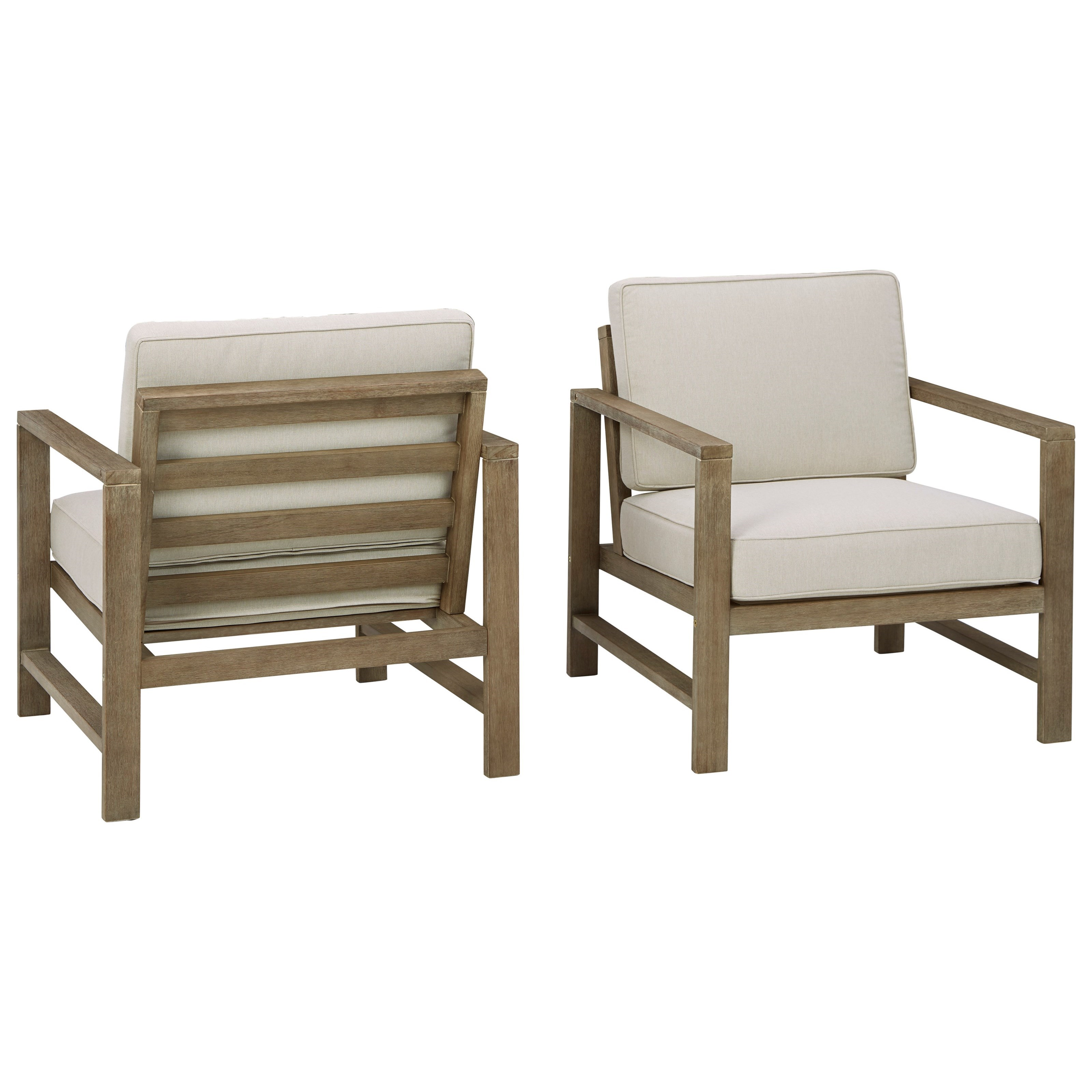 Fynnegan Set of 2 Lounge Chairs w/ Cushion by Signature at Walker's Furniture