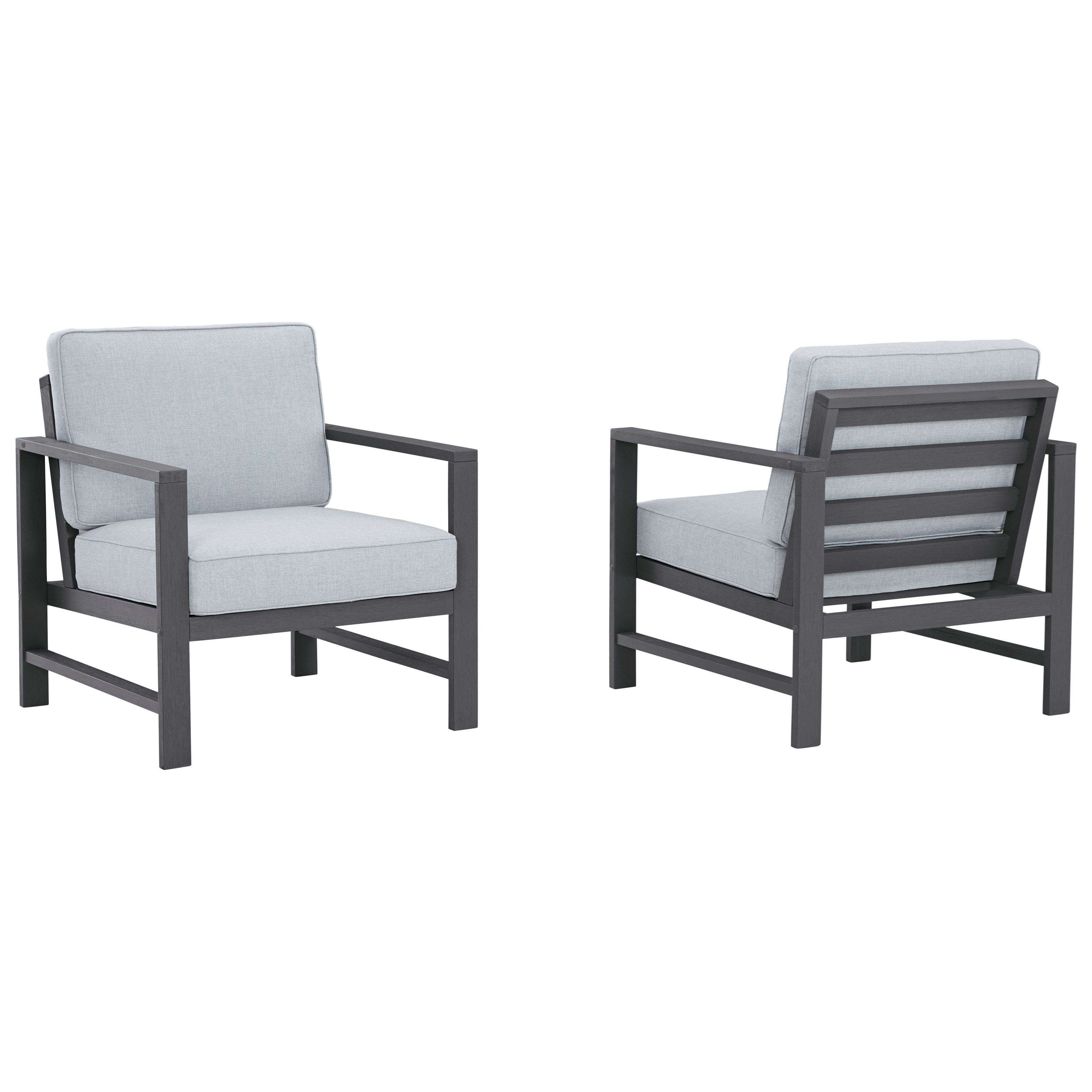 Fynnegan Set of 2 Lounge Chairs w/ Cushion by Signature Design by Ashley at Northeast Factory Direct