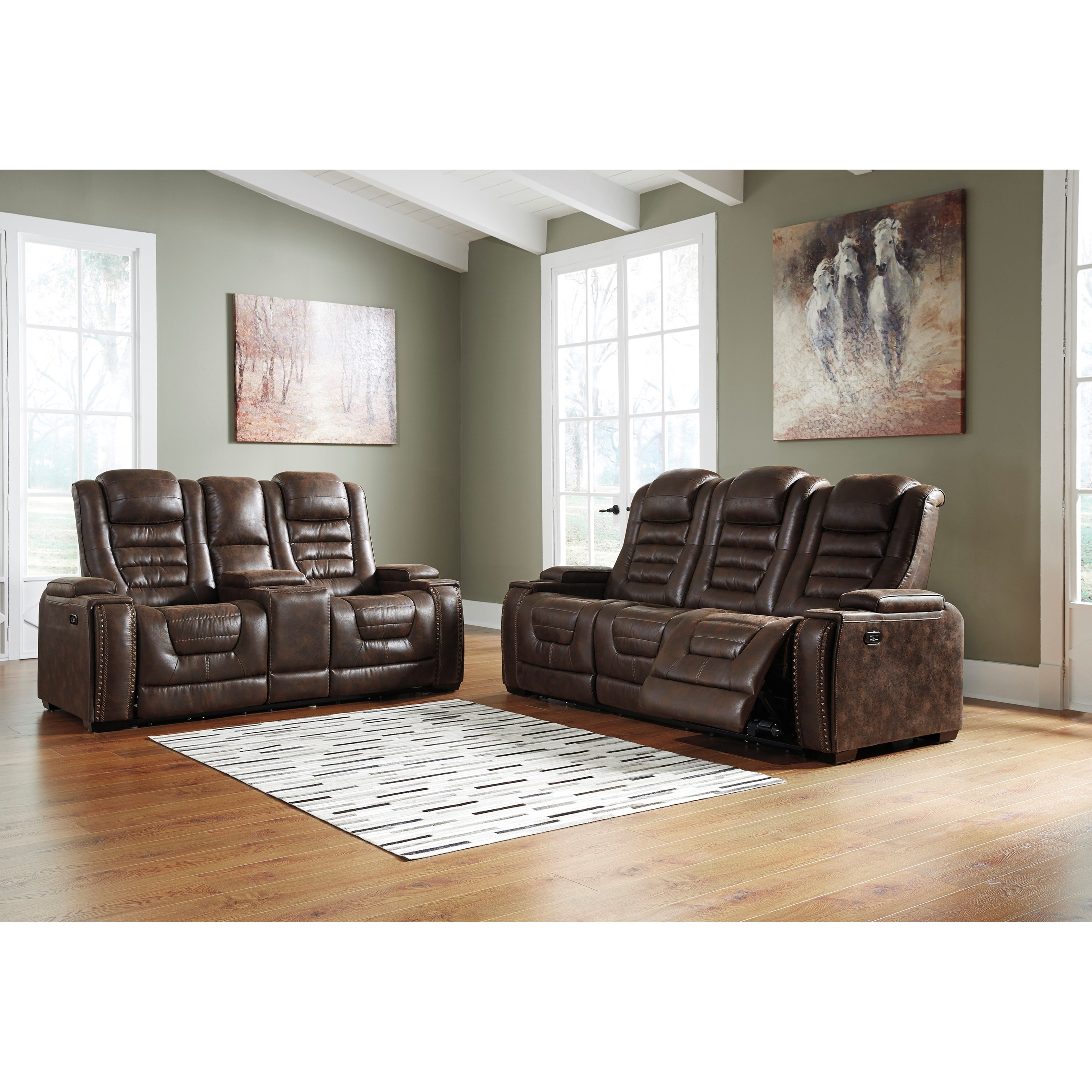 Game Zone Reclining Living Room Group by Signature Design by Ashley at Factory Direct Furniture