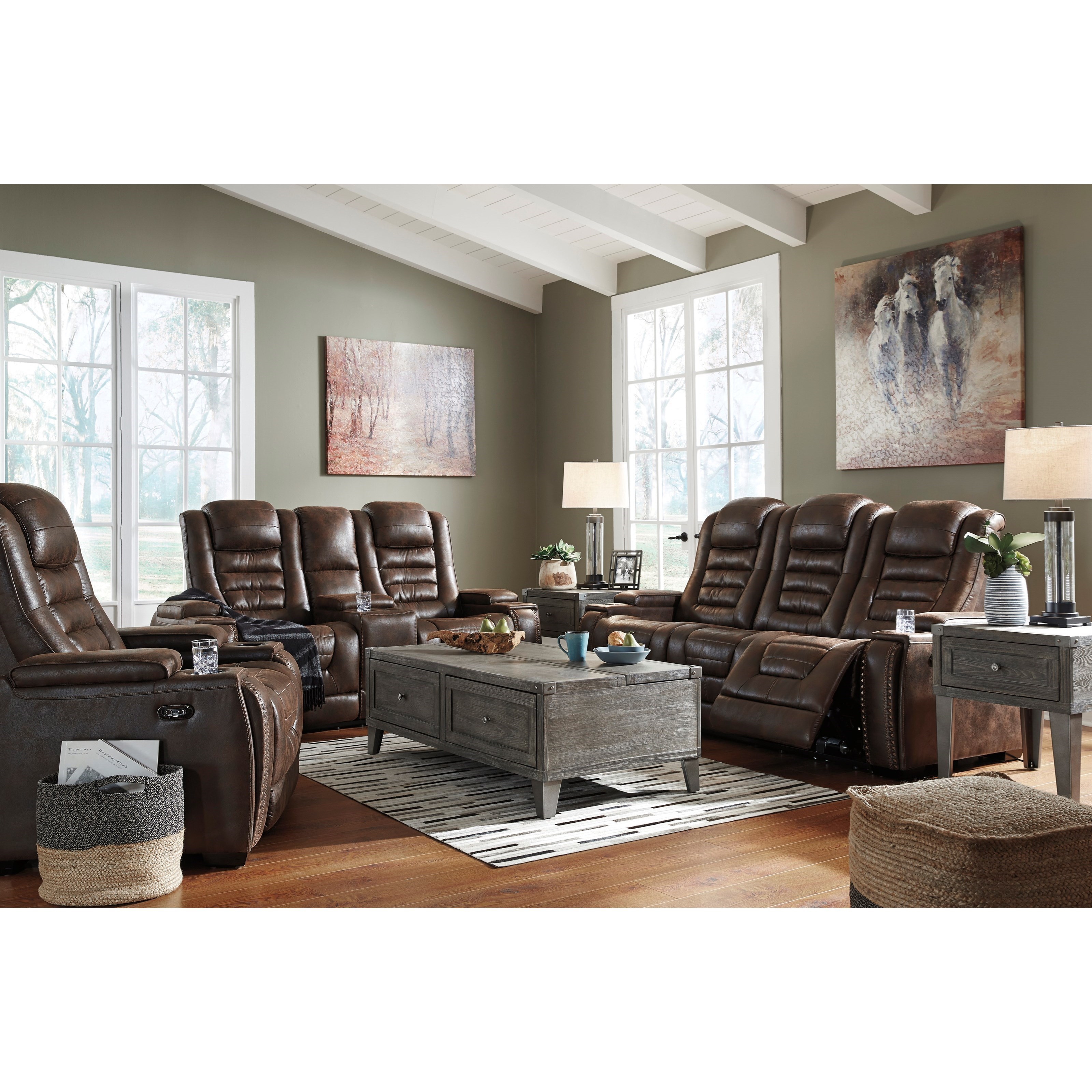 Game Zone Reclining Living Room Group by Signature Design by Ashley at Miller Waldrop Furniture and Decor