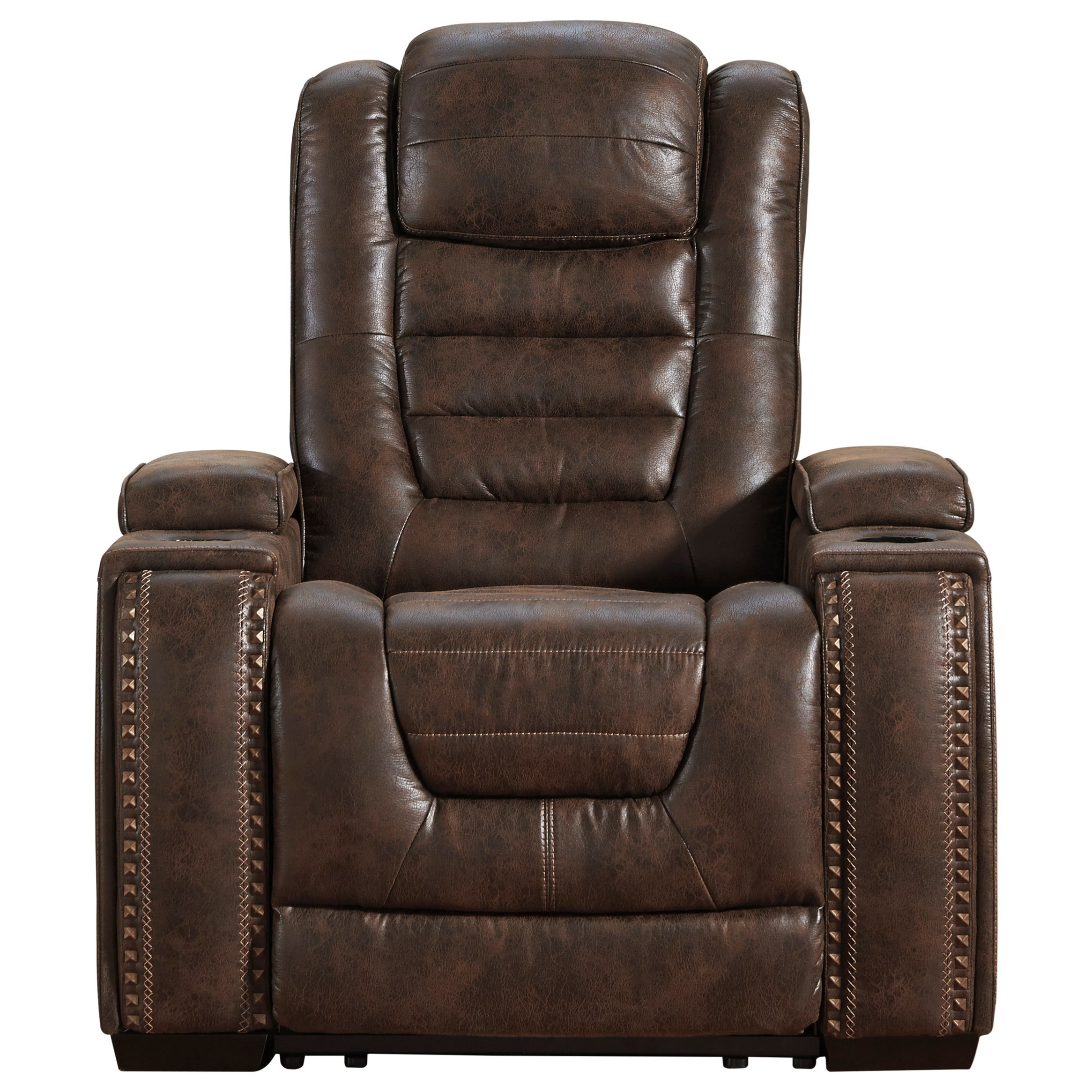Game Zone Power Recliner with Adjustable Headrest by Signature Design by Ashley at Northeast Factory Direct