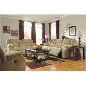 Signature Design by Ashley Garek - Sand Reclining Living Room Group