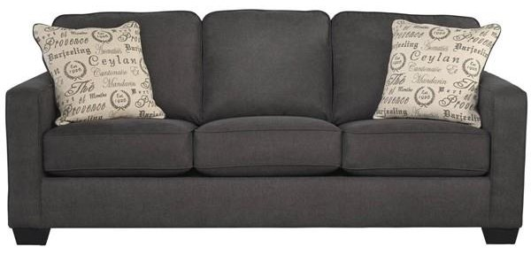 Garner Garner Couch with Accent Pillows by Ashley at Morris Home