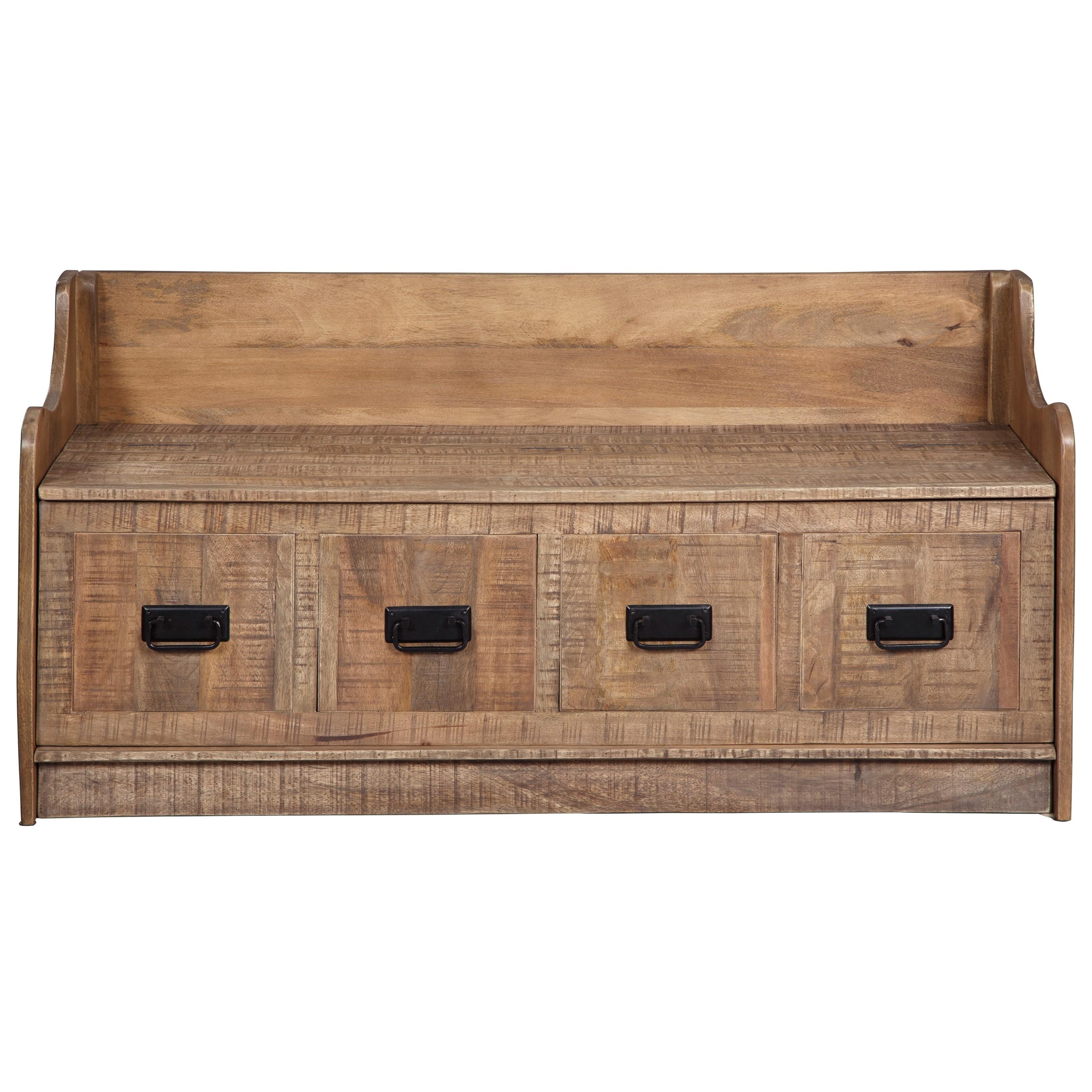 Garrettville Storage Bench by Signature at Walker's Furniture