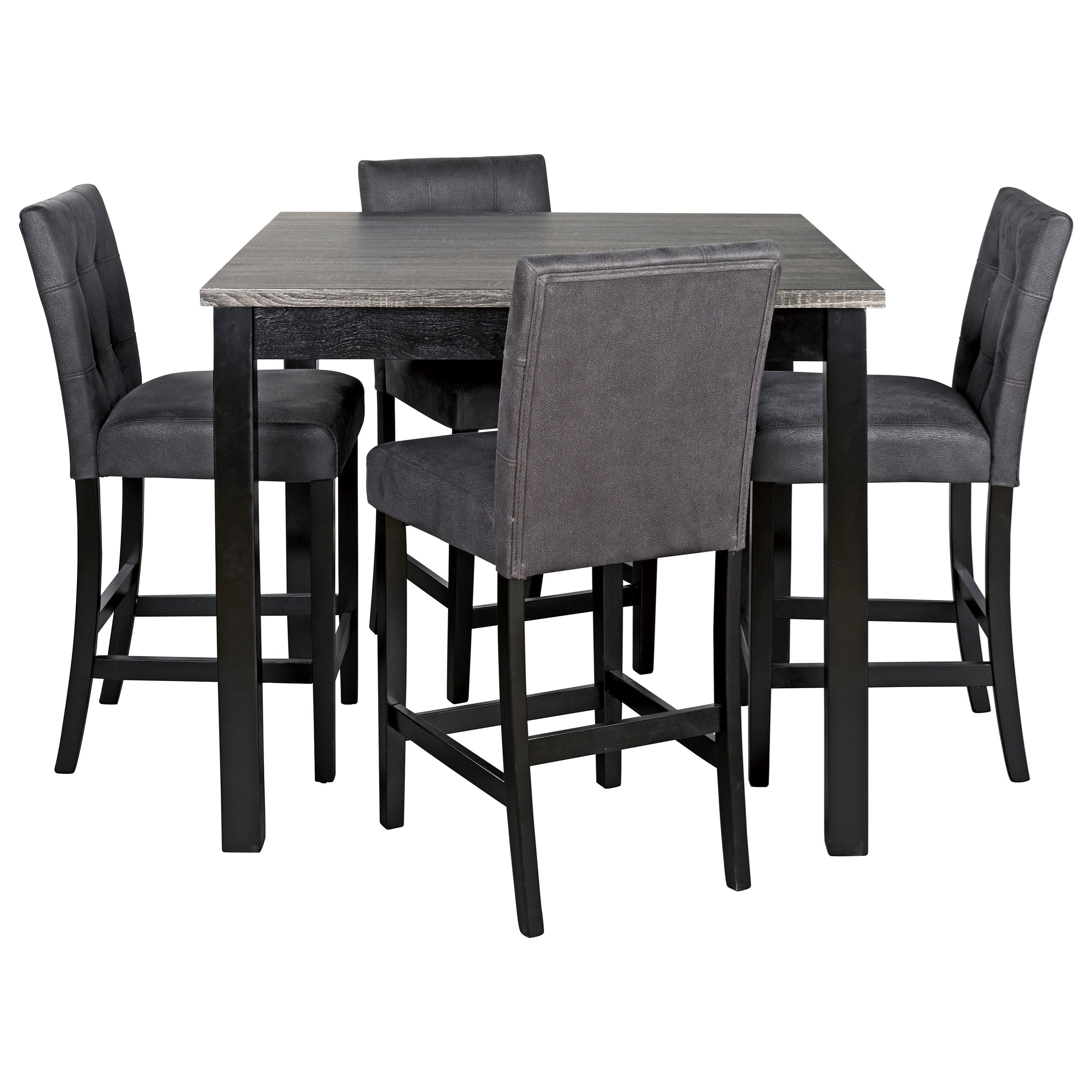 Garvine Square Counter Table Set by Signature Design by Ashley at Household Furniture