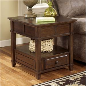 End Table with Hidden Storage & Electrical Outlet