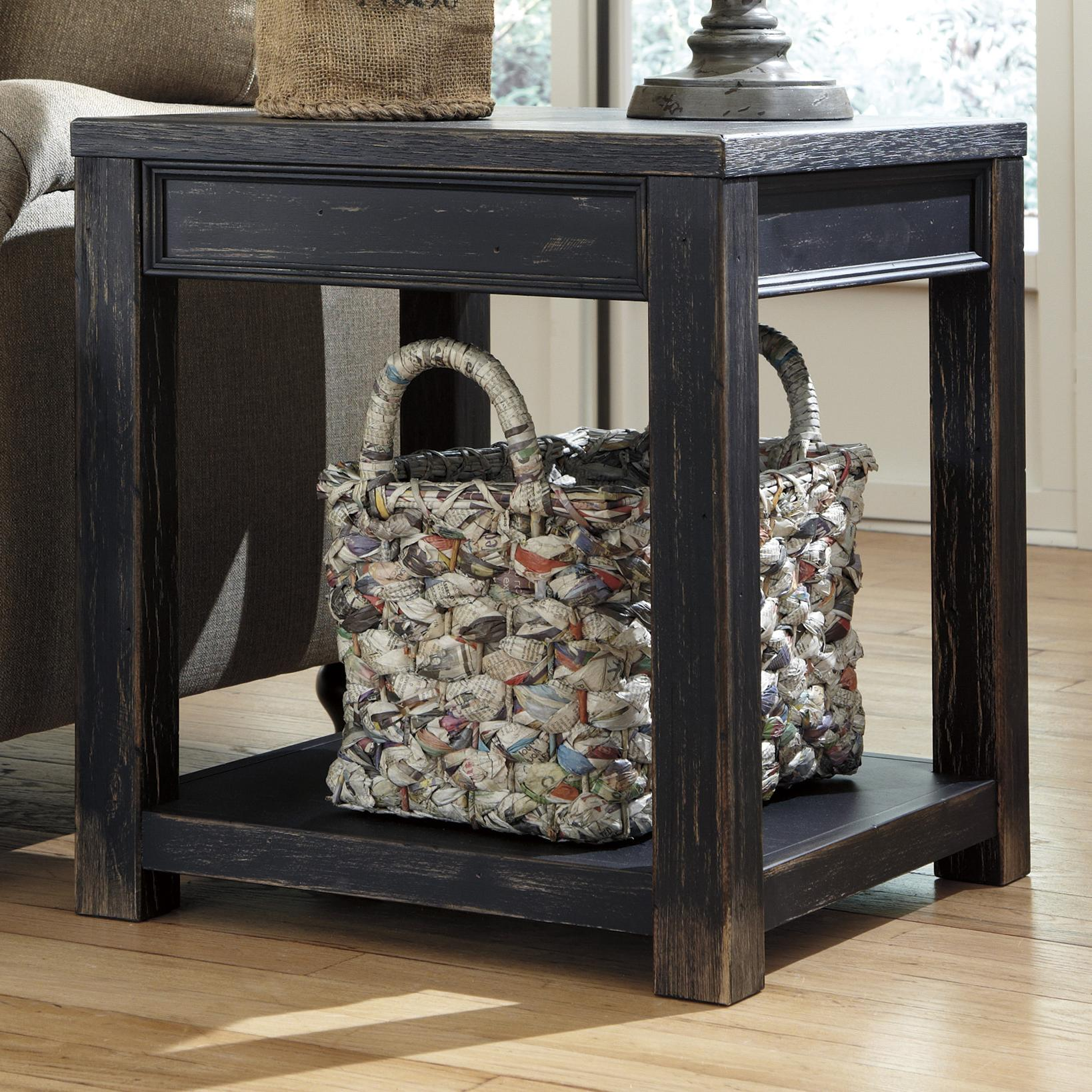 Gavelston Square End Table by Signature Design by Ashley at Beck's Furniture