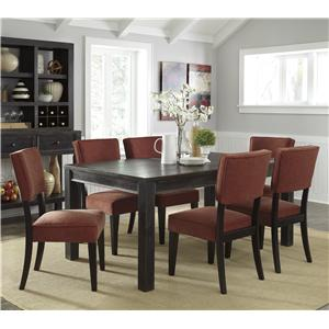 Signature Design by Ashley Gavelston 7-Piece Rectangular Table Dining Set