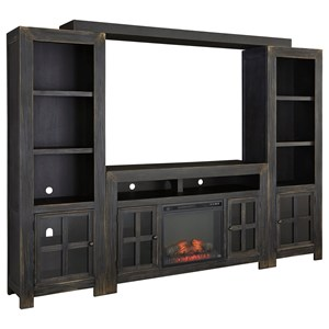 TV Stand with Fireplace, Piers & Bridge