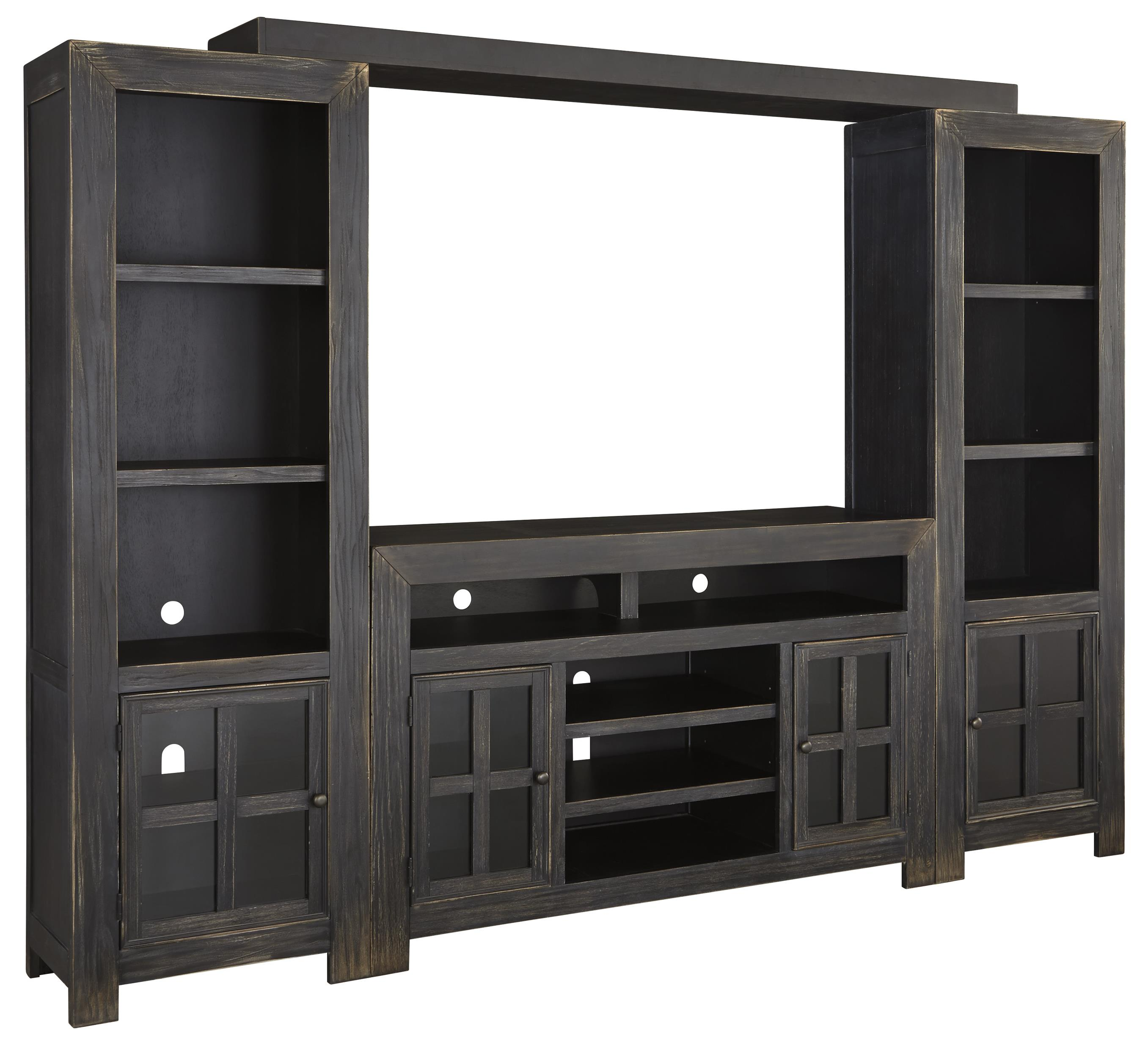 Gavelston TV Stand with Piers & Bridge by Ashley (Signature Design) at Johnny Janosik