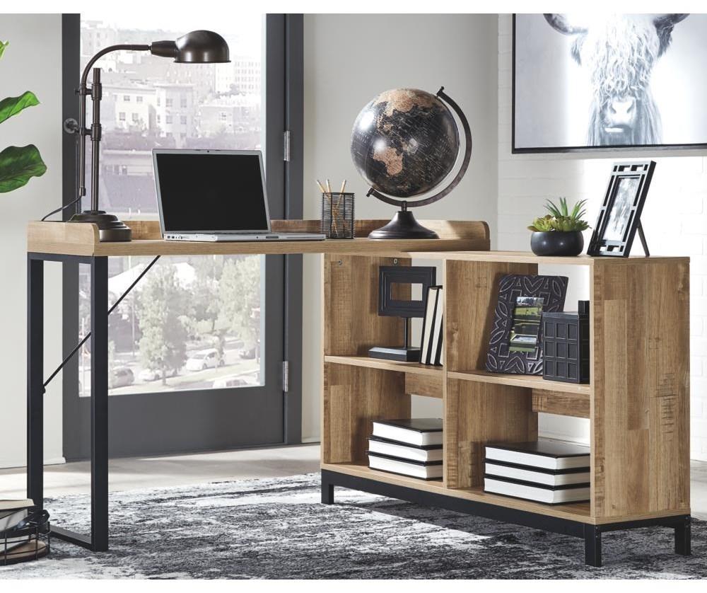 Gerdanet Home Office L Desk by Signature Design by Ashley at Sam Levitz Furniture