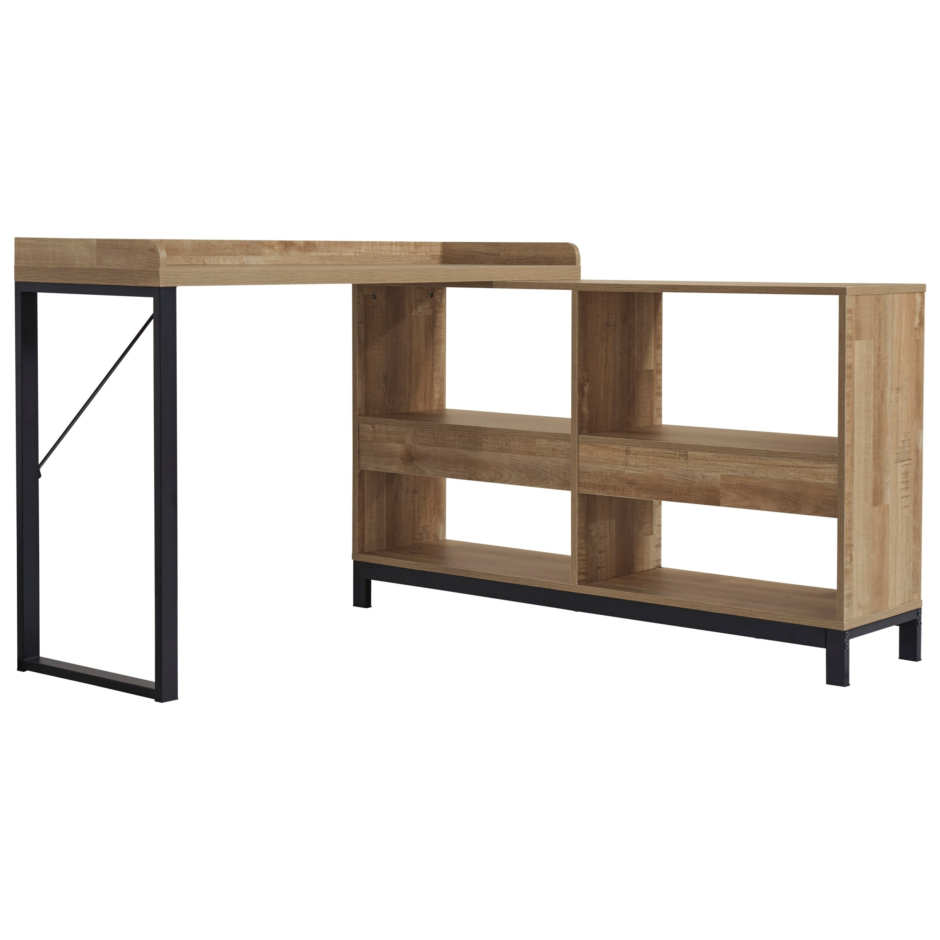 Gerdanet L-Shaped Desk by Signature Design by Ashley at Zak's Warehouse Clearance Center