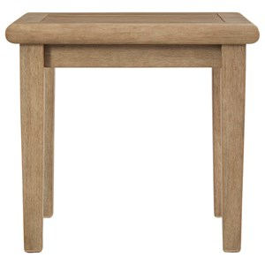 Solid Wood Eucalyptus Square End Table