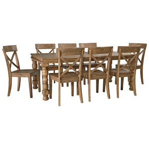 Signature Design by Ashley Trishley 9-Piece Dining Table Set