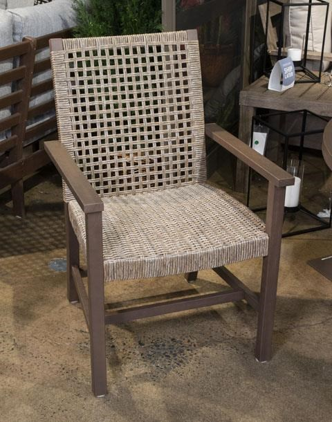 Germalia Outdoor Dining Arm Chair with a Cushion by Signature Design by Ashley at Sam Levitz Furniture