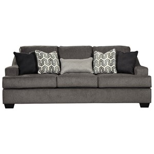 Contemporary Queen Sofa Sleeper with Memory Foam Mattress and Track Arms