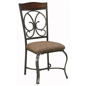 Dining Upholstered Side Chair with Metal Accents