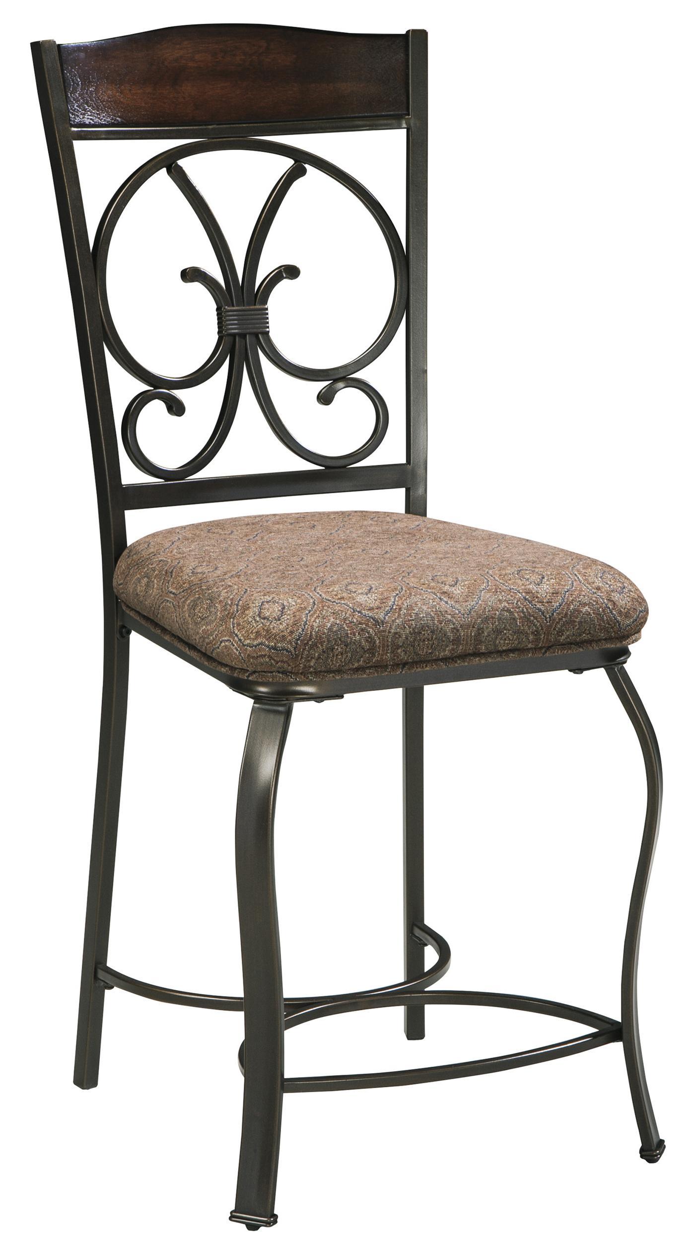 Glambrey Upholstered Barstool by Ashley (Signature Design) at Johnny Janosik