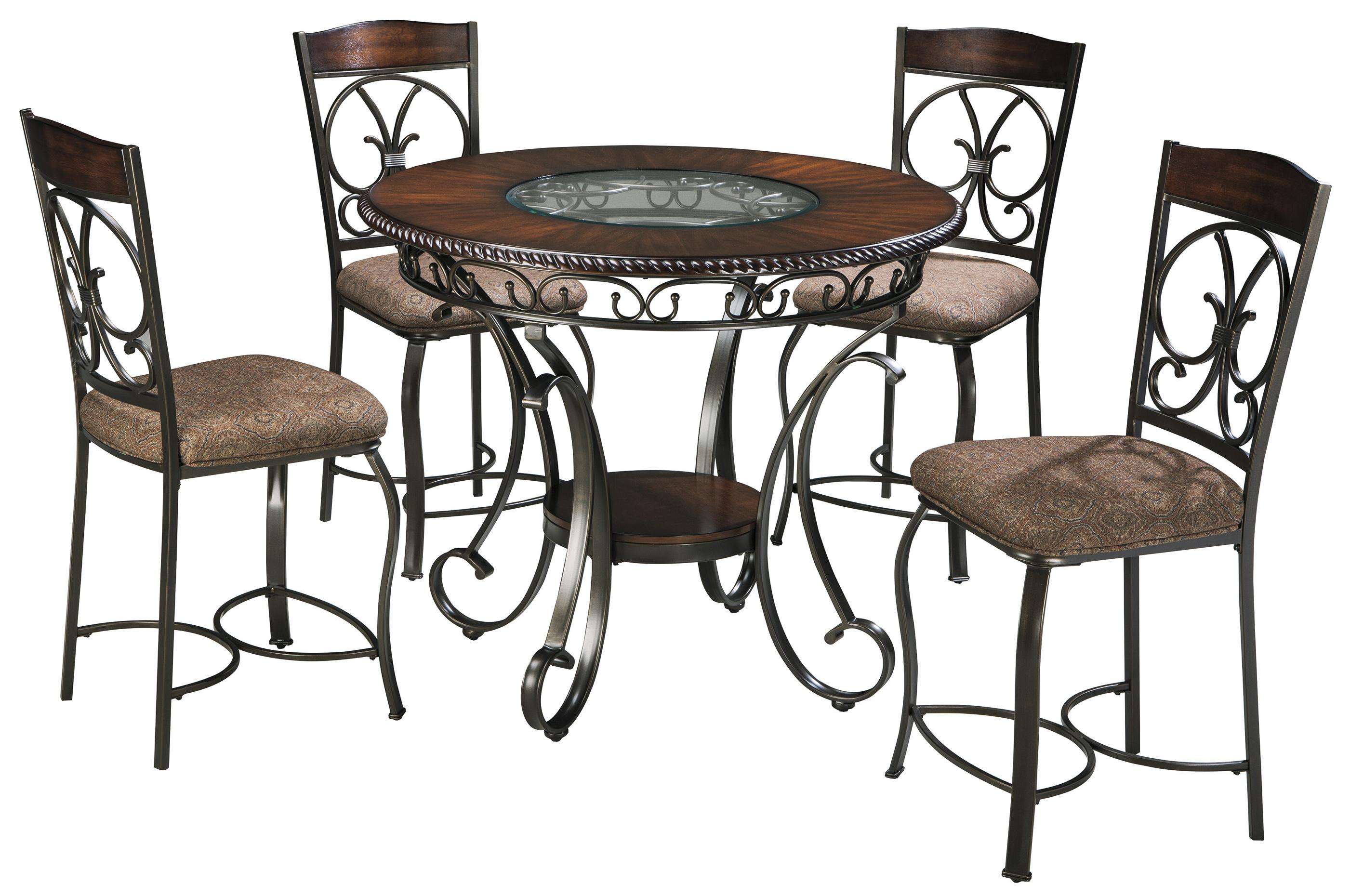 Glambrey Round Counter Table and Barstool Set by Ashley (Signature Design) at Johnny Janosik