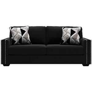 Glam Sofa with Nailhead Trim