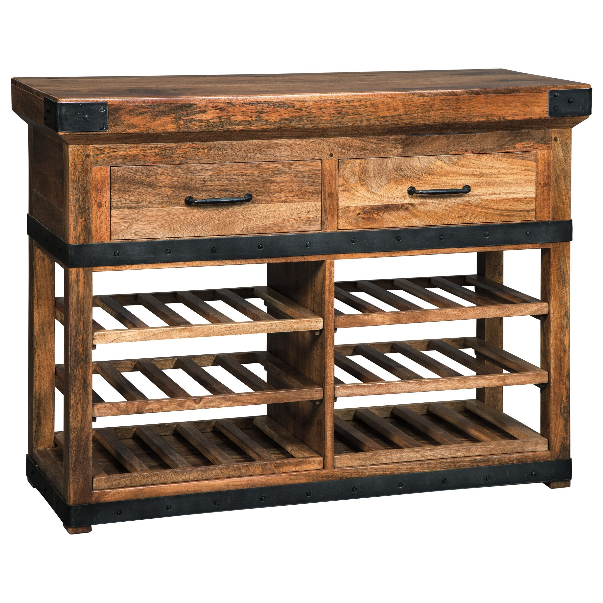 Glosco Wine Cabinet by Signature Design by Ashley at Lapeer Furniture & Mattress Center