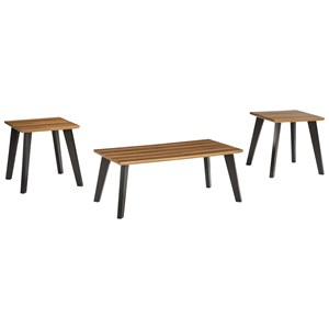 Two-Tone Occasional Table Set