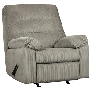 Casual Rocker Recliner with Corduroy Fabric