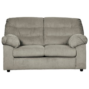 Casual Loveseat with Corduroy Fabric
