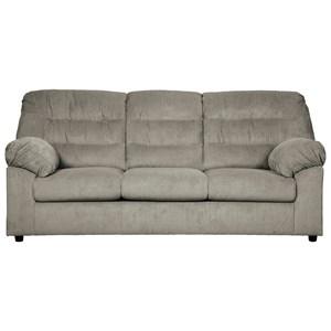 Casual Full Sofa Sleeper with Corduroy Fabric