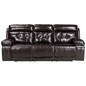 Signature Design by Ashley Graford Power Reclining Sofa w/ Adjustable Headrest