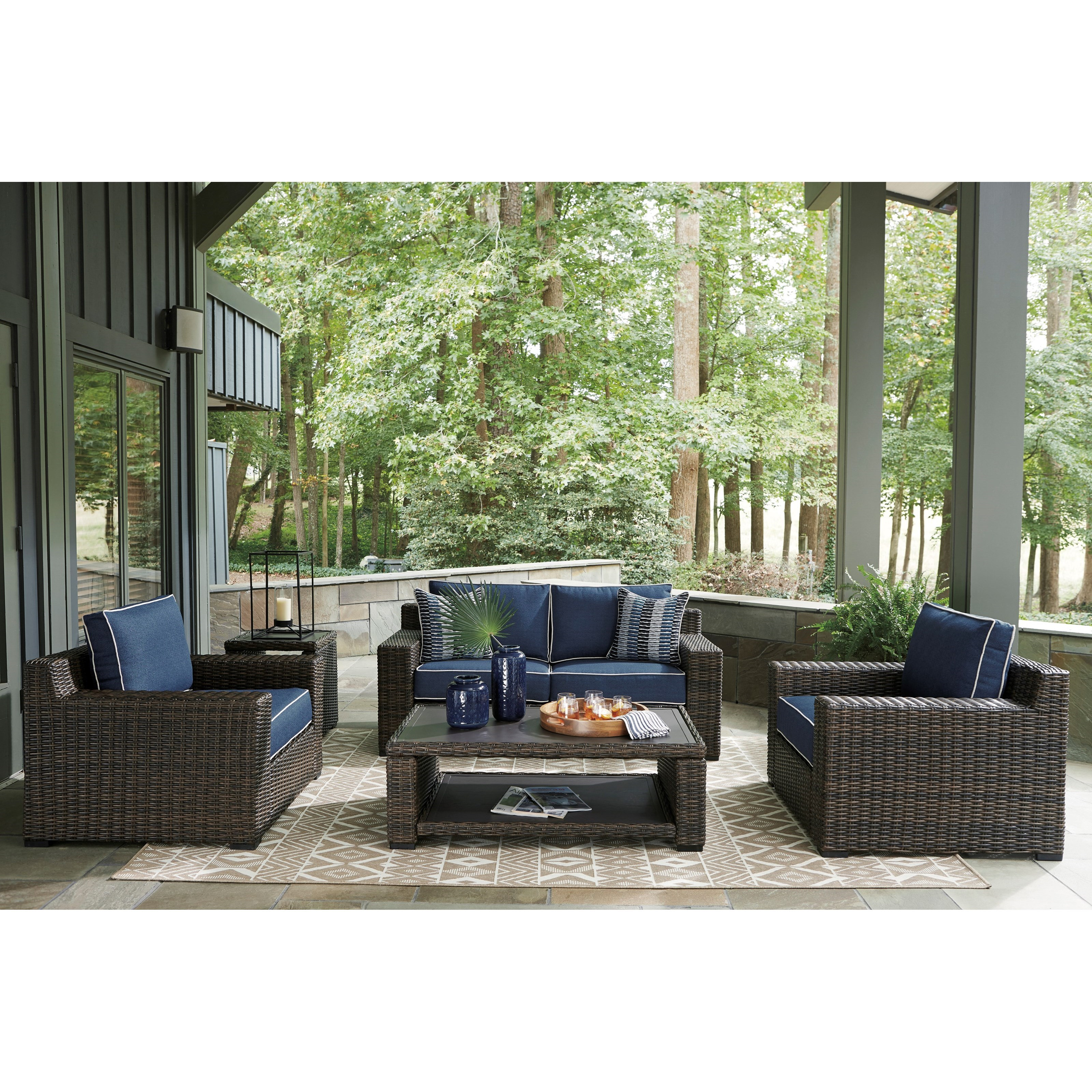 Grasson Lane Outdoor Conversation Set by Signature Design by Ashley at Value City Furniture