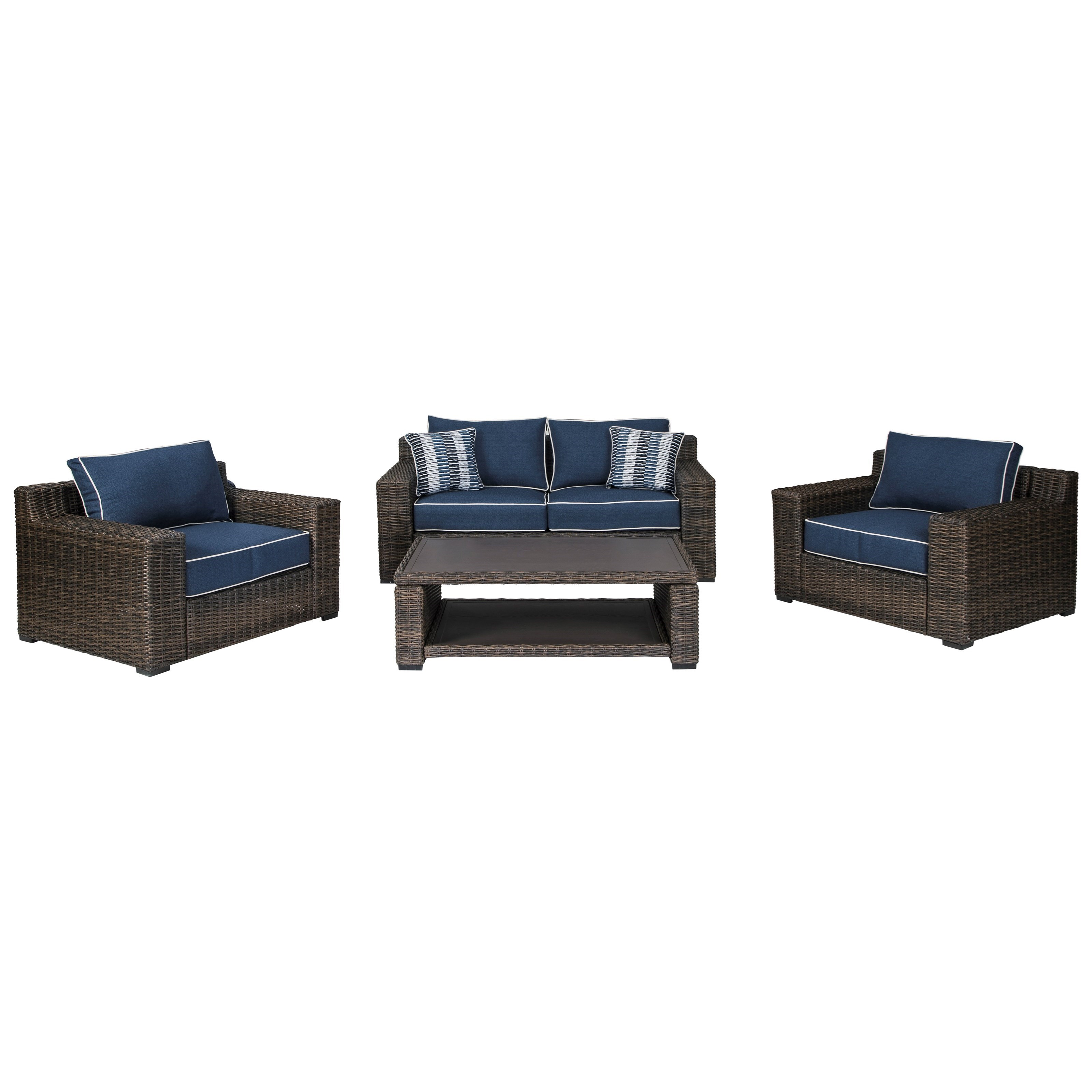 Grasson Lane Outdoor Conversation Set by Signature Design by Ashley at Furniture Barn