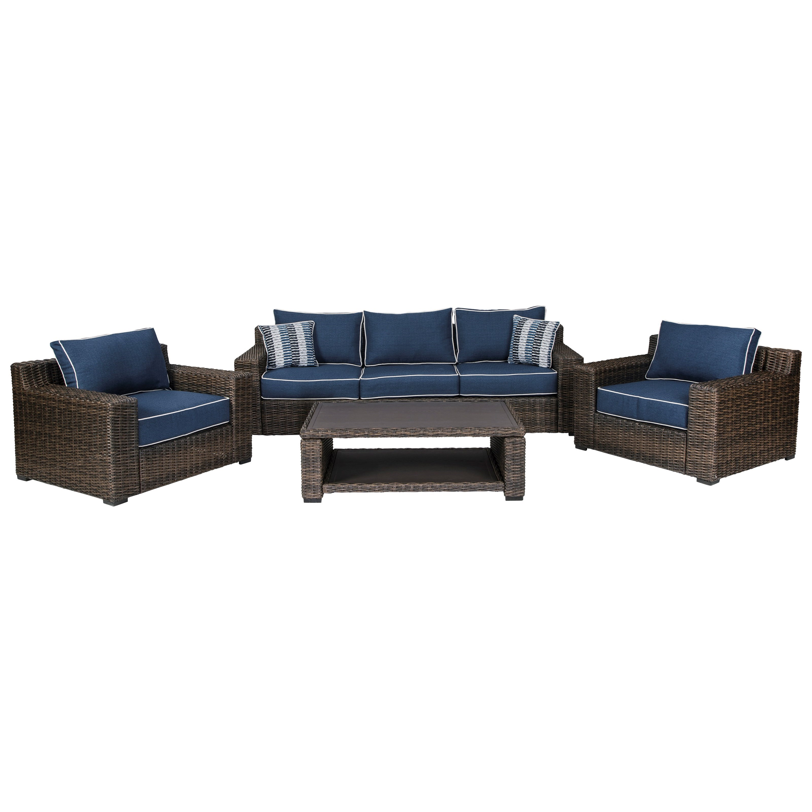 Grasson Lane Outdoor Conversation Set by Signature Design by Ashley at Sparks HomeStore