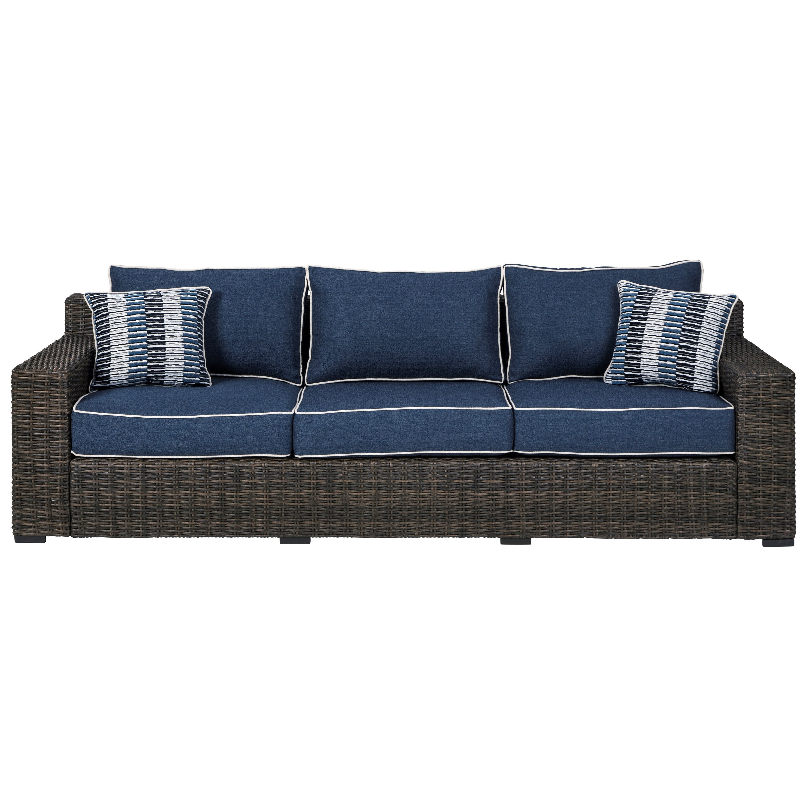 Grasson Lane Sofa with Cushion by Signature at Walker's Furniture