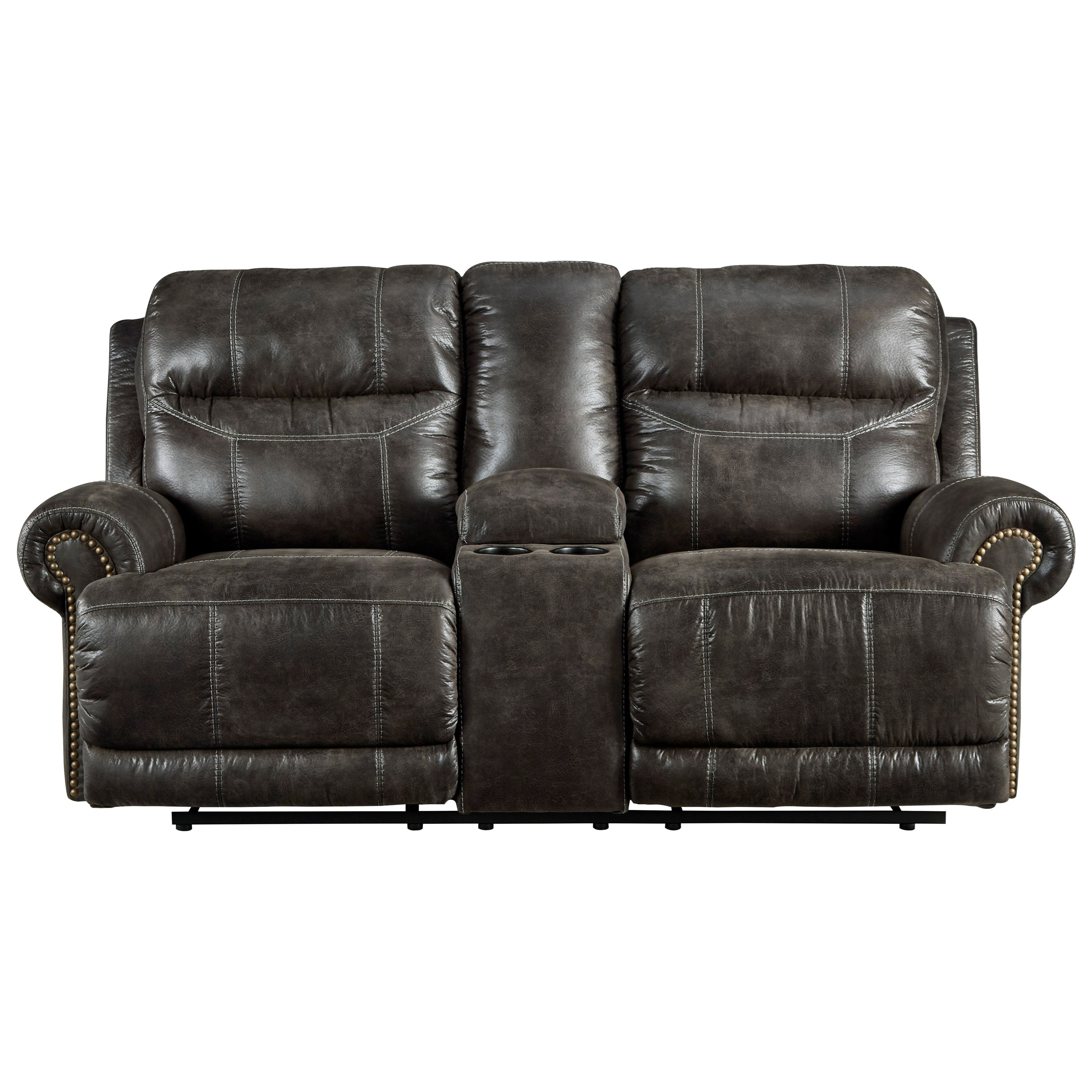 Grearview Power Reclining Loveseat with Console by Ashley (Signature Design) at Johnny Janosik