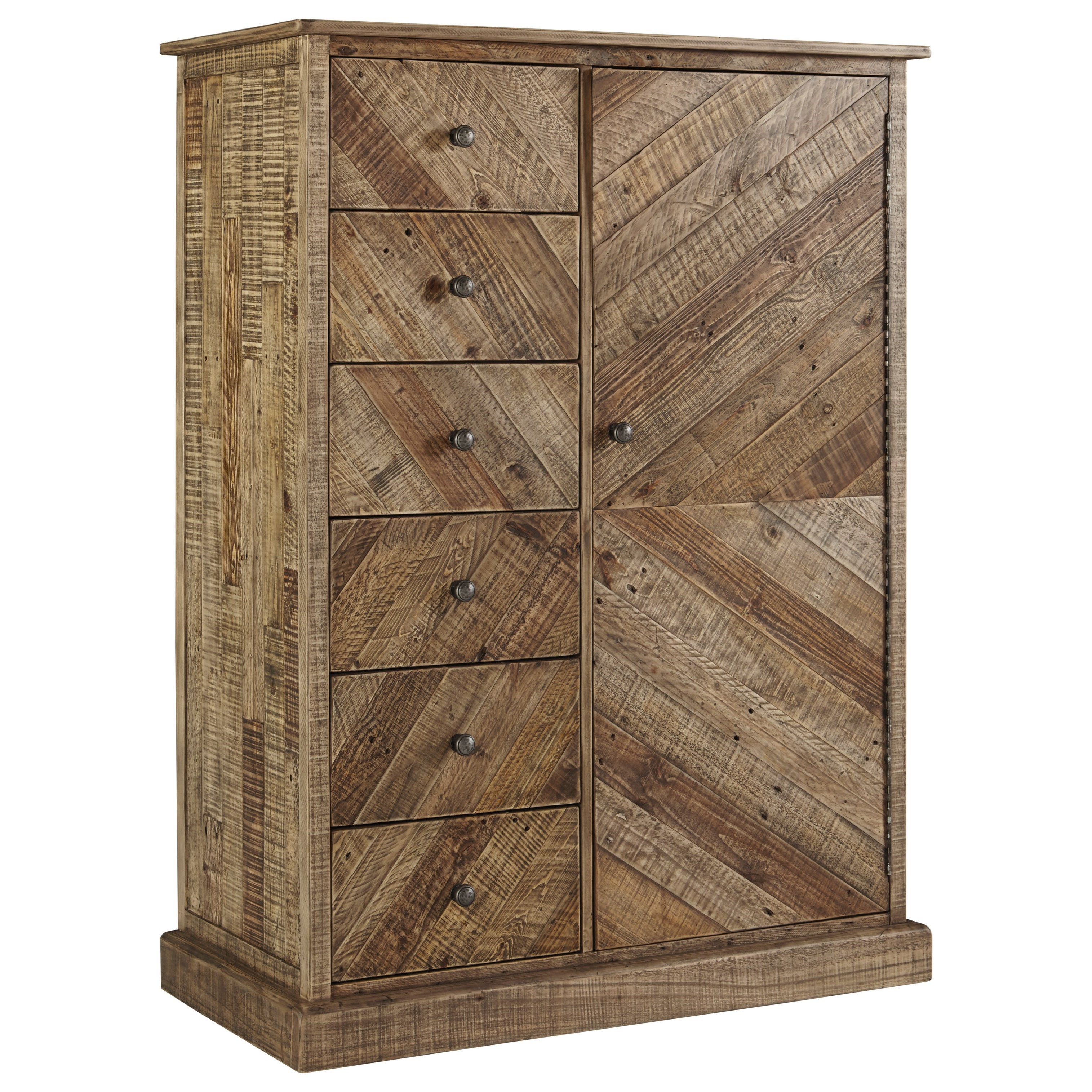 Grindleburg Door Chest by Signature Design by Ashley at Lapeer Furniture & Mattress Center