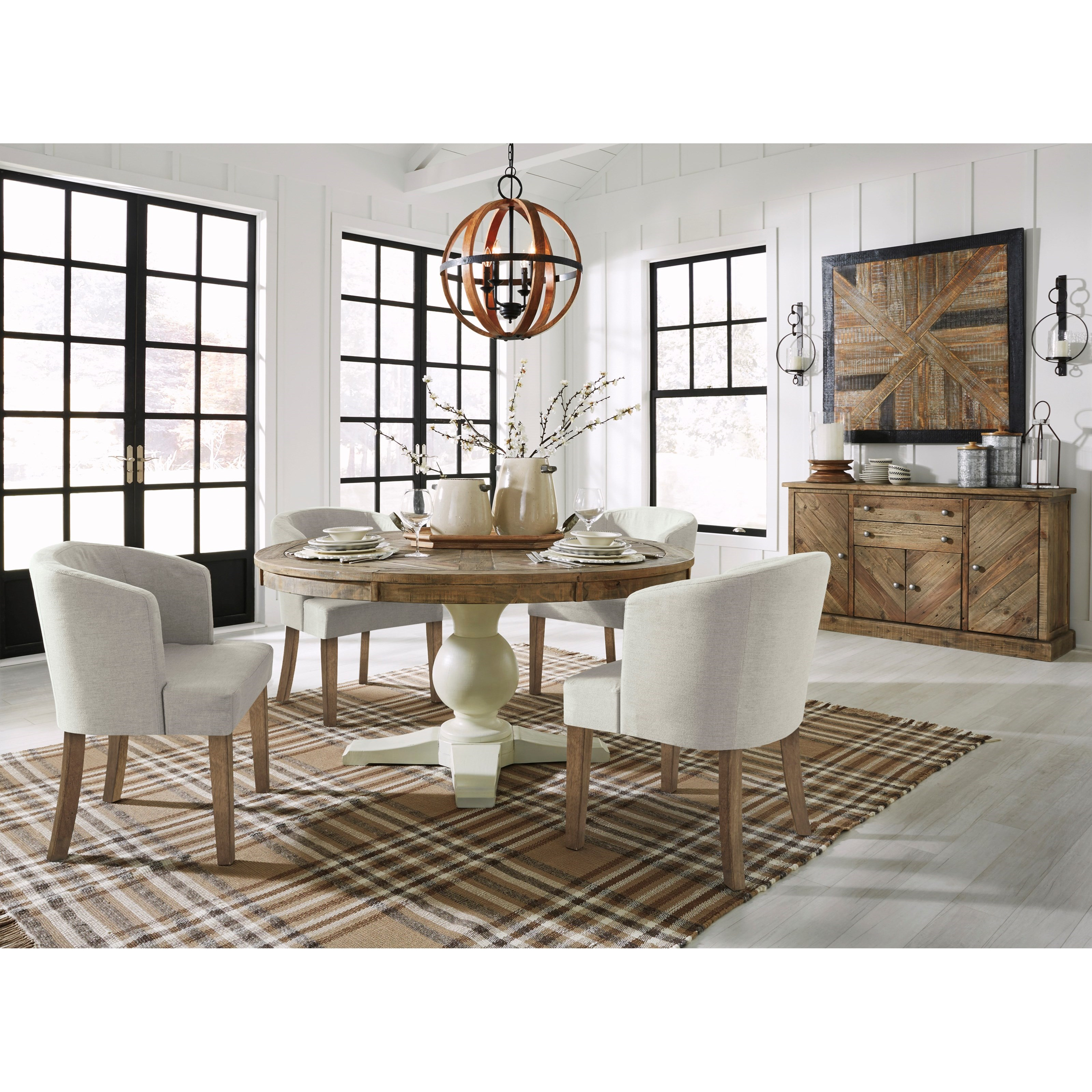 Grindleburg Formal Dining Room Group by Signature Design by Ashley at Lapeer Furniture & Mattress Center